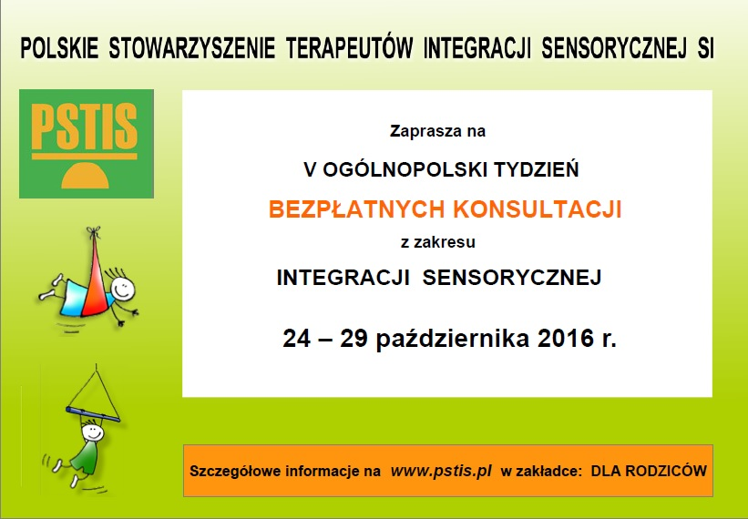 Bezpłatne konsultacje z zakresu Integracji Sensorycznej