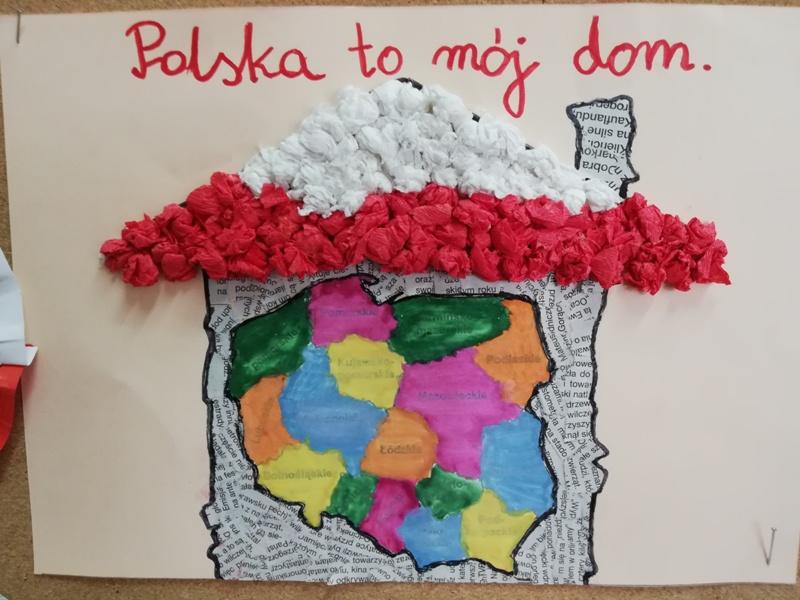 """Powiatowy Konkurs Plastyczny """"Między bielą, a czerwienią – symbole narodowe naszej Ojczyzny"""""""