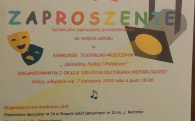 """Konkurs teatralno-muzyczny """"Jesteśmy Polką i Polakiem"""""""