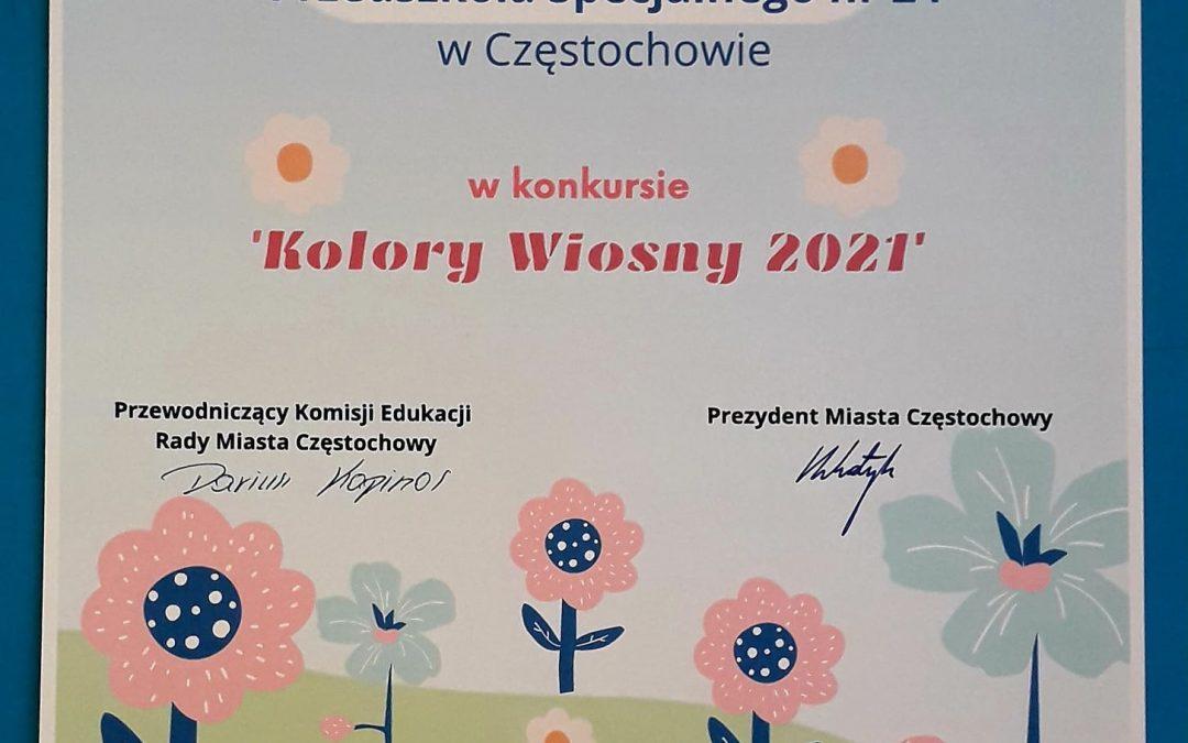 """""""KOLORY WIOSNY 2021"""" W PRZEDSZKOLU"""